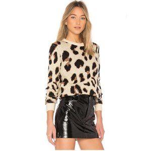 Lovers + Friends Speak Up Leopard Sweater Pullover